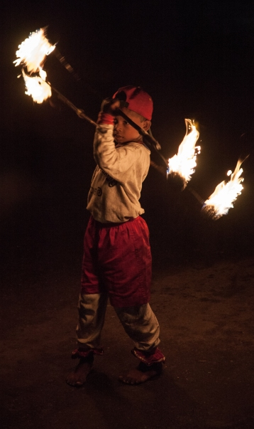 Young Fire Dancer